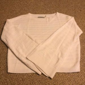 Alice & Olivia boxy and cropped white sweater